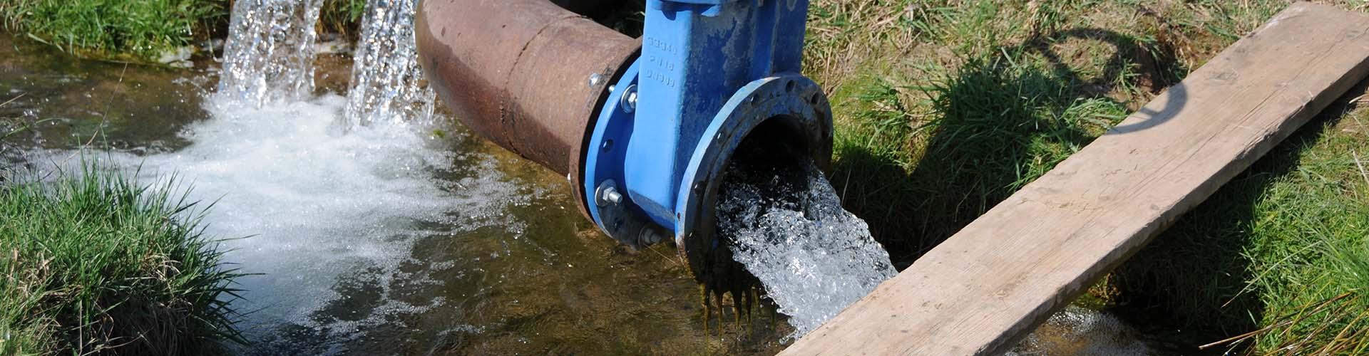 Osuszanie terenu (drenaż), odprowadzenie wody, studnia drenarska
